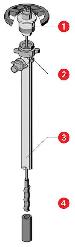 Принципиальная схема разборки винтового насоса Lutz серия HD-E